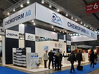 The booth of the Chemoform AG at interbad 2012.